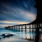 Catherine Hill Bay Silhouette by Michael Howard