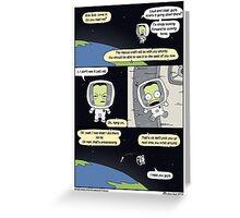 Kerbal Space Rescue Program. Greeting Card