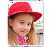 Portrait of a little lady in natural light iPad Case/Skin