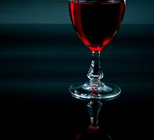 Glass of Red Wine by Riaan Roux
