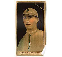 Benjamin K Edwards Collection Thomas W Leach Pittsburgh Pirates baseball card portrait 001 Poster
