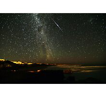Comet Lovejoy with Iridium Flare Photographic Print