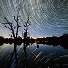 Space Station Startrails by Wayne England