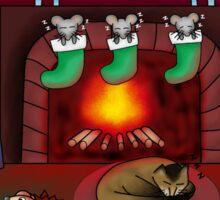 Christmas animal scene Sticker