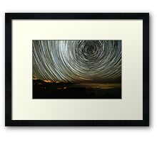 Robe Startrails Framed Print