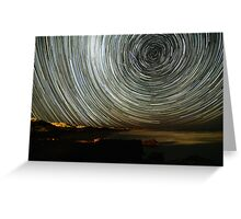 Robe Startrails Greeting Card