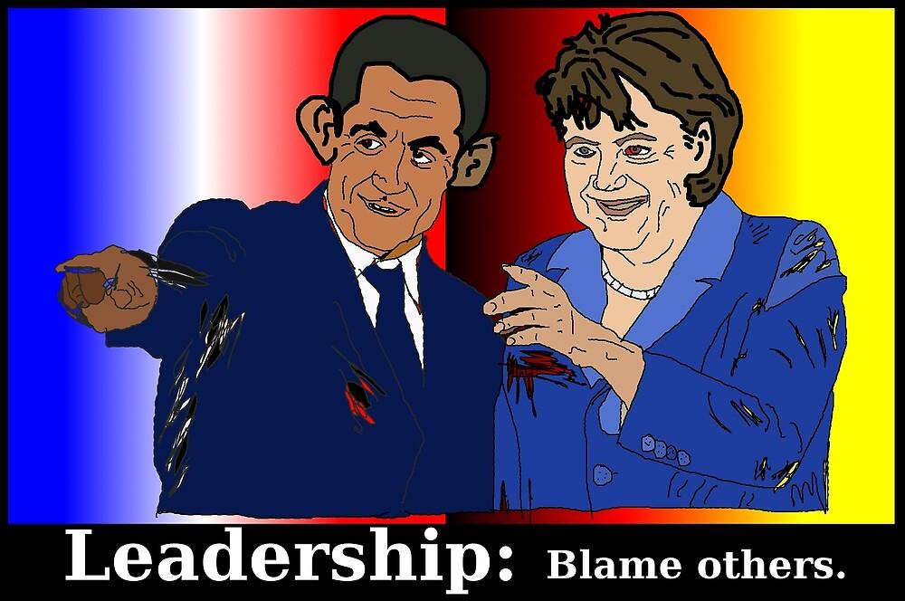 Sarkozy et Merkel - doigts pointés by Binary-Options