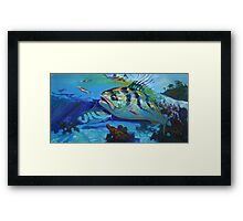 Here Comes The Rooster - Roosterfish Sport fishing Painting Framed Print
