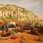 HASTINGS - the fishermen's beach by Beatrice Cloake Pasquier