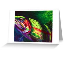 Glimpse Of A Cutthroat- Cutthroat Trout Fly Fishing Painting  Greeting Card