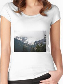 Between heaven and earth ... Women's Fitted Scoop T-Shirt
