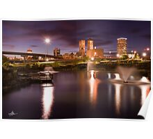 Tulsa Lights - Centennial Park View Poster
