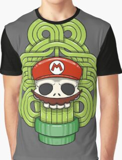 Mario Skull Graphic T-Shirt