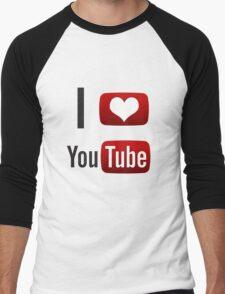 I Heart Youtube! Men's Baseball ¾ T-Shirt