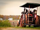 Amish Steam Tractor by Marcia Rubin