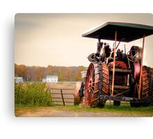 Amish Steam Tractor Canvas Print