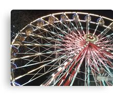 Funfairs And Ferris Wheels Canvas Print