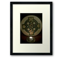 Drum and candle Framed Print
