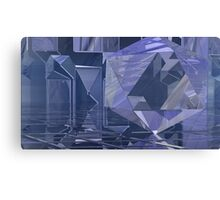 Crystaline Blocks Canvas Print