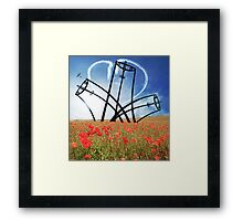 Spitfire Sentinel in the Field of Poppies Framed Print