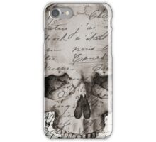 Vintage Paris Skull iPhone Case/Skin