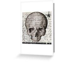 Vintage Paris Skull Greeting Card