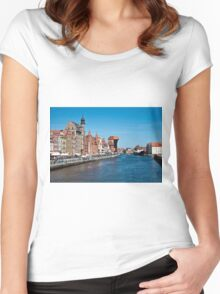 Gdansk ( Danzig ) - Poland   Women's Fitted Scoop T-Shirt