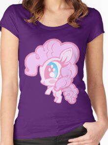 Weeny My Little Pony- Pinkie Pie Women's Fitted Scoop T-Shirt