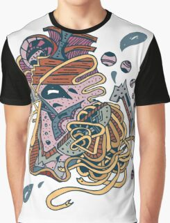 Abstract White Face Graphic T-Shirt