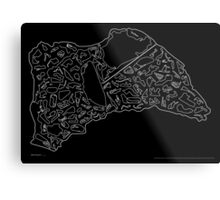 Race Tracks to Scale - Plain Layouts (Inverted) Metal Print