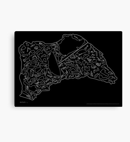 Race Tracks to Scale - Plain Layouts (Inverted) Canvas Print