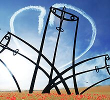 Spitfire Sentinel in the Field of Poppies - [PostCard] by Smudgers Art