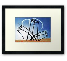 Spitfire Sentinel in the Field of Poppies - [PostCard] Framed Print