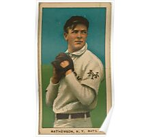 Benjamin K Edwards Collection Christy Mathewson New York Giants baseball card portrait 002 Poster