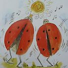 Dancing ladybirds by Amanda Gazidis