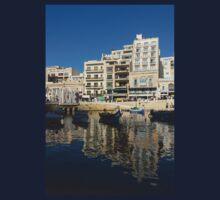 Bright Blue LOVE, Upside Down - Malta's St Julian's Harbor Kids Tee