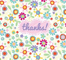 fresh flowers thank you card by jillhowarth