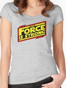 The force is strong... Retro Empire Edition Women's Fitted Scoop T-Shirt