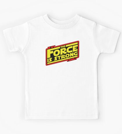 The force is strong... Retro Empire Edition Kids Tee