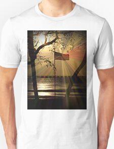 May Gods Light Shine on USA Unisex T-Shirt