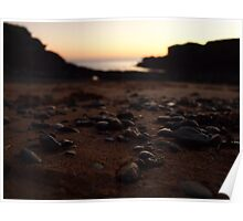 Pebbled Sunset Poster