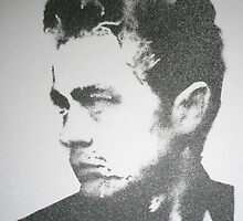 James Dean stencil by indiacording
