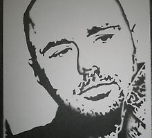 Karl Pilkington: An Idiot Abroad stencil by indiacording