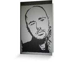 Karl Pilkington: An Idiot Abroad stencil Greeting Card