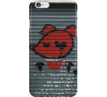 red pooch, heart graffiti iPhone Case/Skin