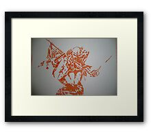Iron Maiden - The Trooper - Eddie - orange Framed Print