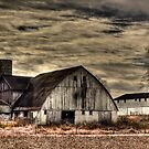 Old barn in January  by carlosramos