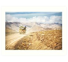 Dusty Ride to Mount Everest Art Print