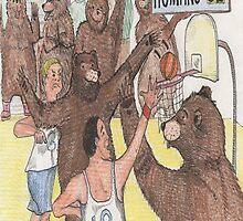 Bears v. Humans (Bears Playing Basketball) by feeltoogood