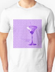 Purple cocktail on texture T-Shirt
